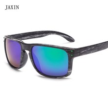 JAXIN Fashion Square Sunglasses Men Imitation Wood Frame Sun Glasses Ms Brand Design Trend Personality Eyewear UV400oculos
