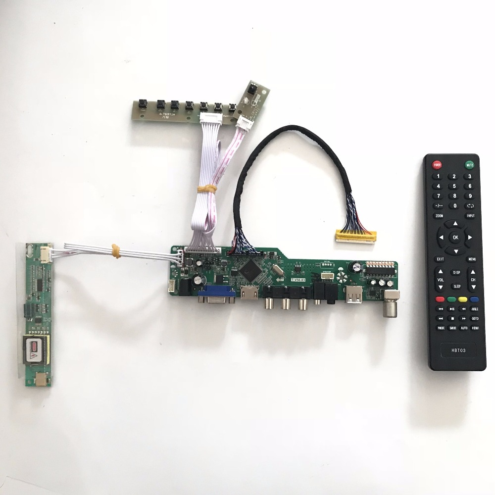Free shipping T.V56.03 VGA HDMI AV Audio USB TV Board for B154SW01 15.4 inch 1680x1050 CCFL LVDS TFT LCD repair raspberry pi
