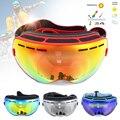 Ser Agradável UV400 óculos de Lente Dupla Anti-Fog Big Spherical Skiing Óculos Inverno Esporte Snowboard Esqui Óculos de Proteção Óculos de Proteção Óculos
