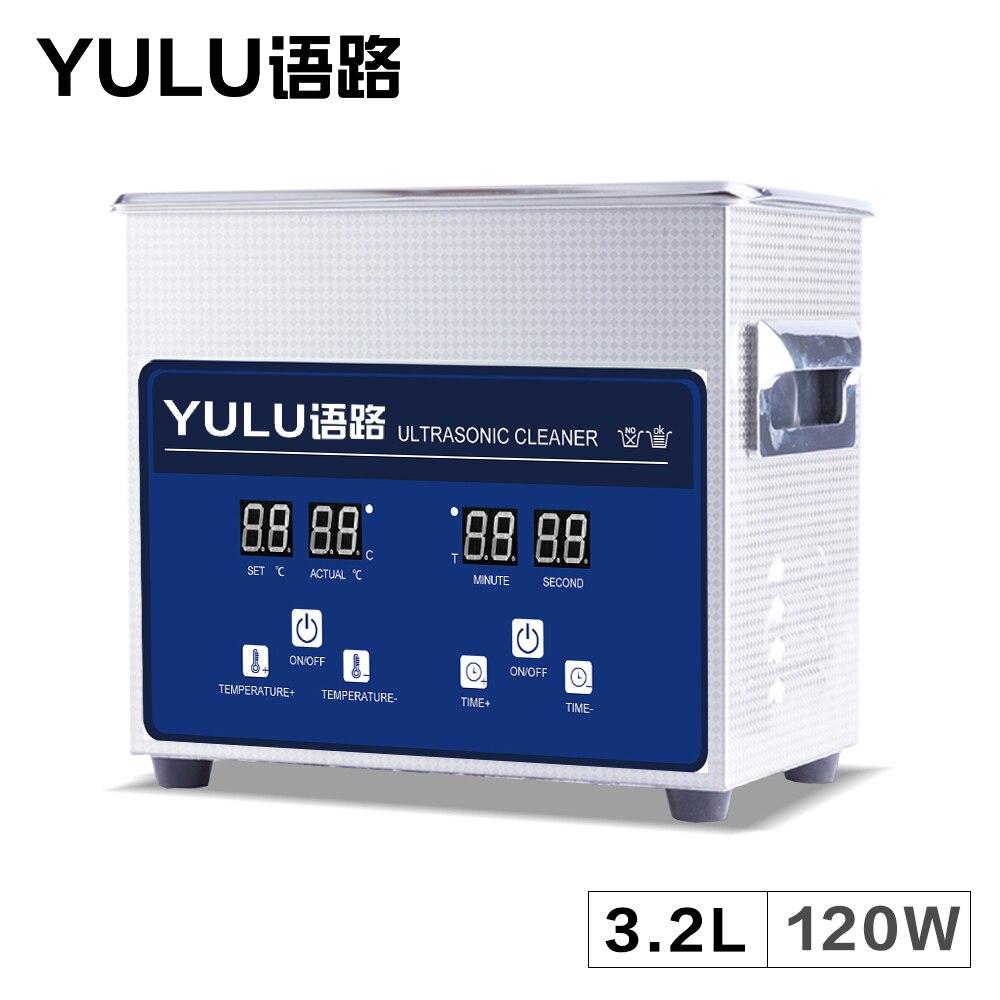 YULU Digital 3.2L Ultrasonic Cleaning Machine Bath Dental Equipment MainBoard Parts Timer Heater Ultrasound Washing 3LTankYULU Digital 3.2L Ultrasonic Cleaning Machine Bath Dental Equipment MainBoard Parts Timer Heater Ultrasound Washing 3LTank