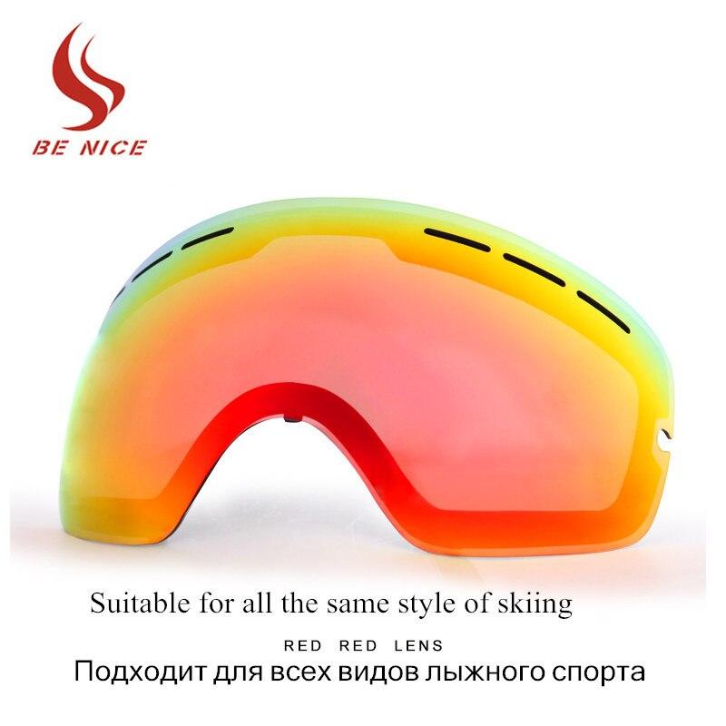 Brand Snowboard Goggles Double Anti-fog Lens Big Spherical Skiing Eyewear Ski Glasses Lens Suitable For The Same Style Lens