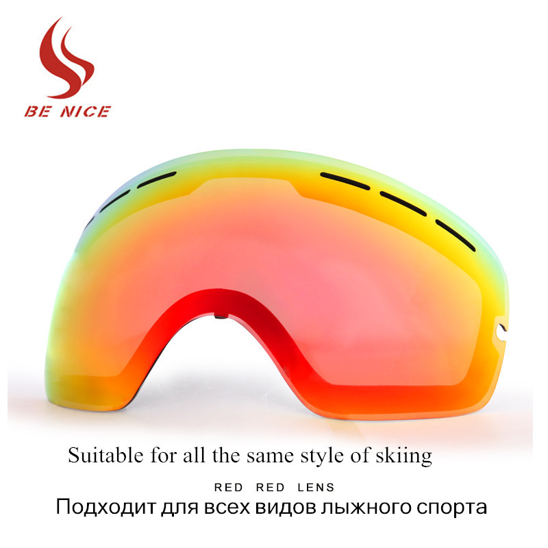 Brand Snowboard Goggles Double Anti-fog Lens Big Spherical Skiing Eyewear Ski Glasses Lens Suitable For The Same Style Lens