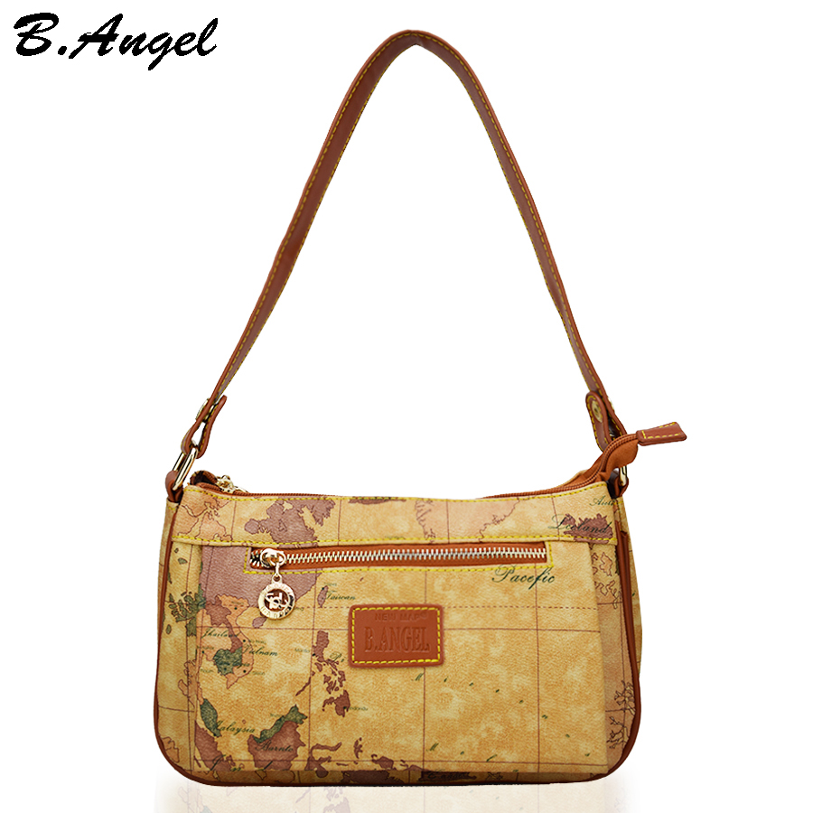 High quality world map women bag fashion women messenger bags brand high quality world map women bag fashion women messenger bags brand design bag high capacity handbag crossbody bags for women in top handle bags from gumiabroncs Image collections