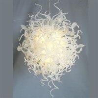 Işıklar ve Aydınlatma'ten Avizeler'de Modern Sanat Ev Dekorasyon Beyaz Murano Cam Medusa Maestro Kristal Avize