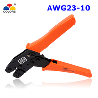 COLORS HS 06WF 0 25 6 0mm2 Plier Ratchet Terminal Spring Clamp Terminals Crimping Tool Crimping