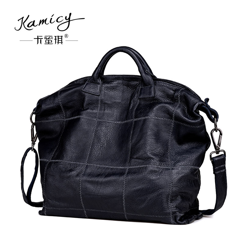 цена на 100%  Genuine  Leather Bag  Large  Women Leather Handbags Famous Brand Women Messenger Bags Big Ladies Shoulder Bag Bolsos Mujer