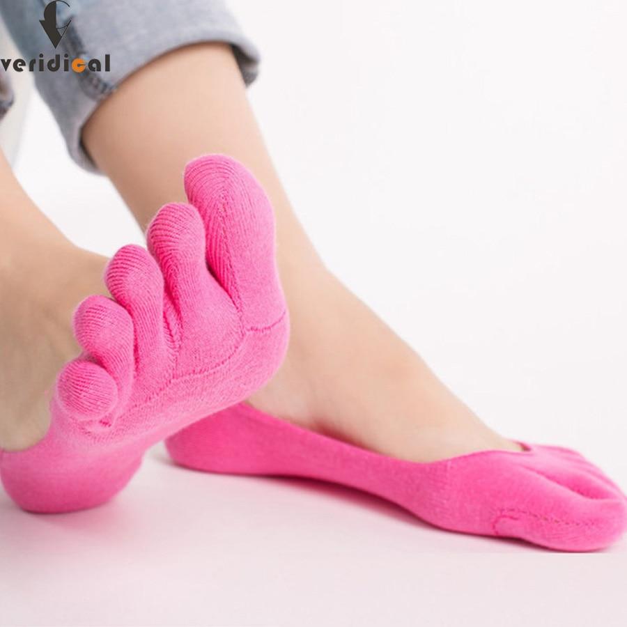Damensocken & Strümpfe FäHig Veridical 5 Paare/los 5 Finger Socken Für Frauen Baumwolle Unsichtbare Socken Süßigkeiten Farben Meias Masculino Calcetines Fünf Finger Socken