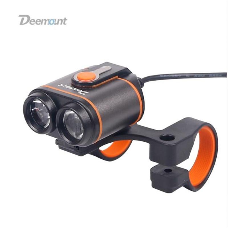 Deemount Vélo Police Lampe 8-22.5 Heures 400Lm Phare De Bicyclette LED Lampe D'éclairage Avant Flash Lanterne Torche 18650 Batterie Kit
