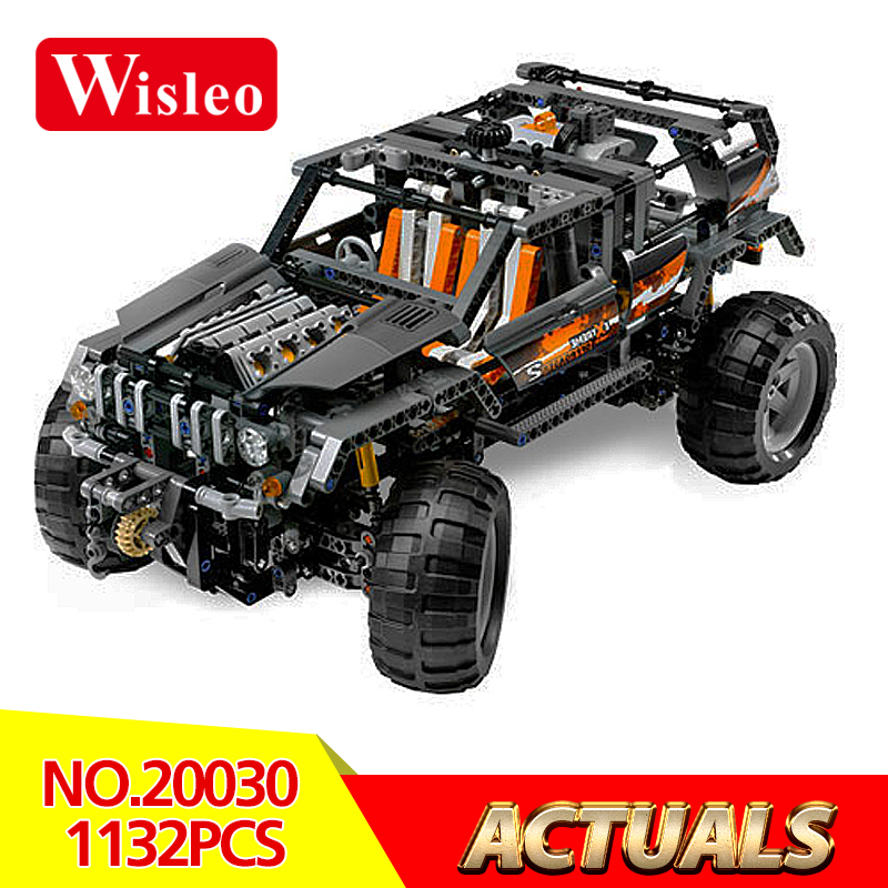Wisleo 20030 Technic Ultimate Series The Off-Roader Set Children Educational Model Building Blocks Bricks Toys LegoINGlys 8297 lepin 20030 technic ultimate series the 1132pcs off roader set children educational building blocks bricks toys model gifts 8297