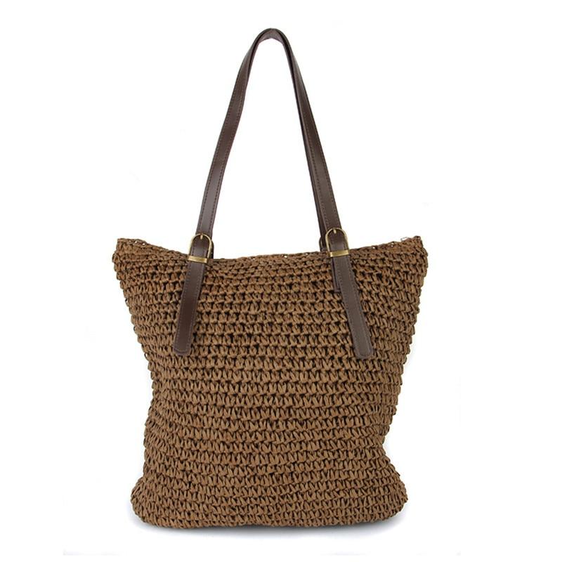2017 Women's Bag Beach Woven weed Bags For Summer Travel Womens Designer Shoulder Bag Ladies Knitting Women straw Bags Handbags