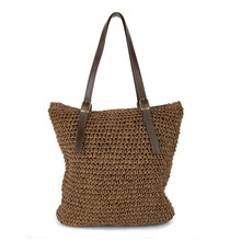 2017 Женская сумка пляж тканые Травы Сумки для летних путешествий женские дизайнерские Сумка Женская Вязание женские соломенные сумки сумки