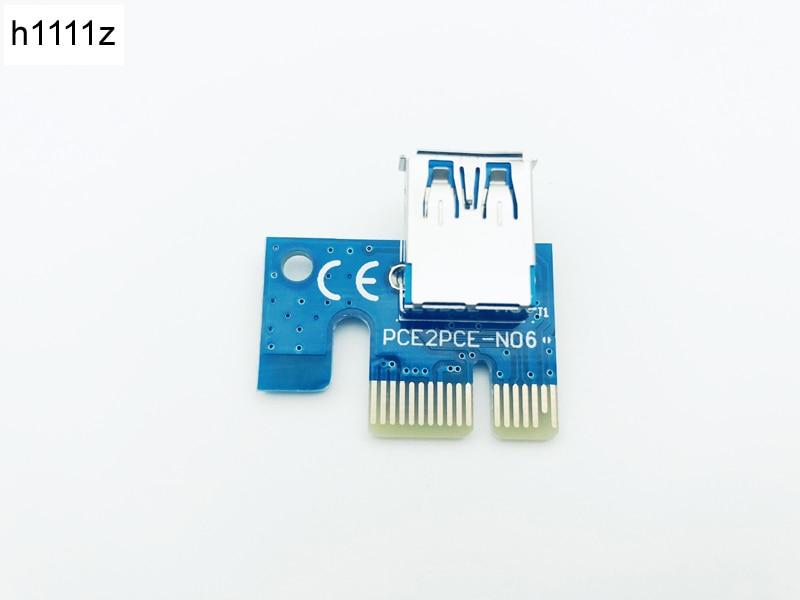 10PCS PCI 1X PCI-e X1 Riser 180 Degree Riser Card Adapter to USB For Riser 006 006C 007S 008S