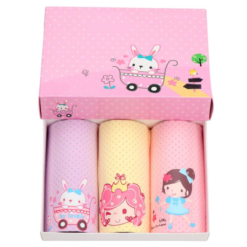 3pcs lot Cartoon Children Underwear Cotton Grils Underwear Kids Boxer Briefs Girls Panties Girl Panties Girls Underwear in Panties from Mother Kids