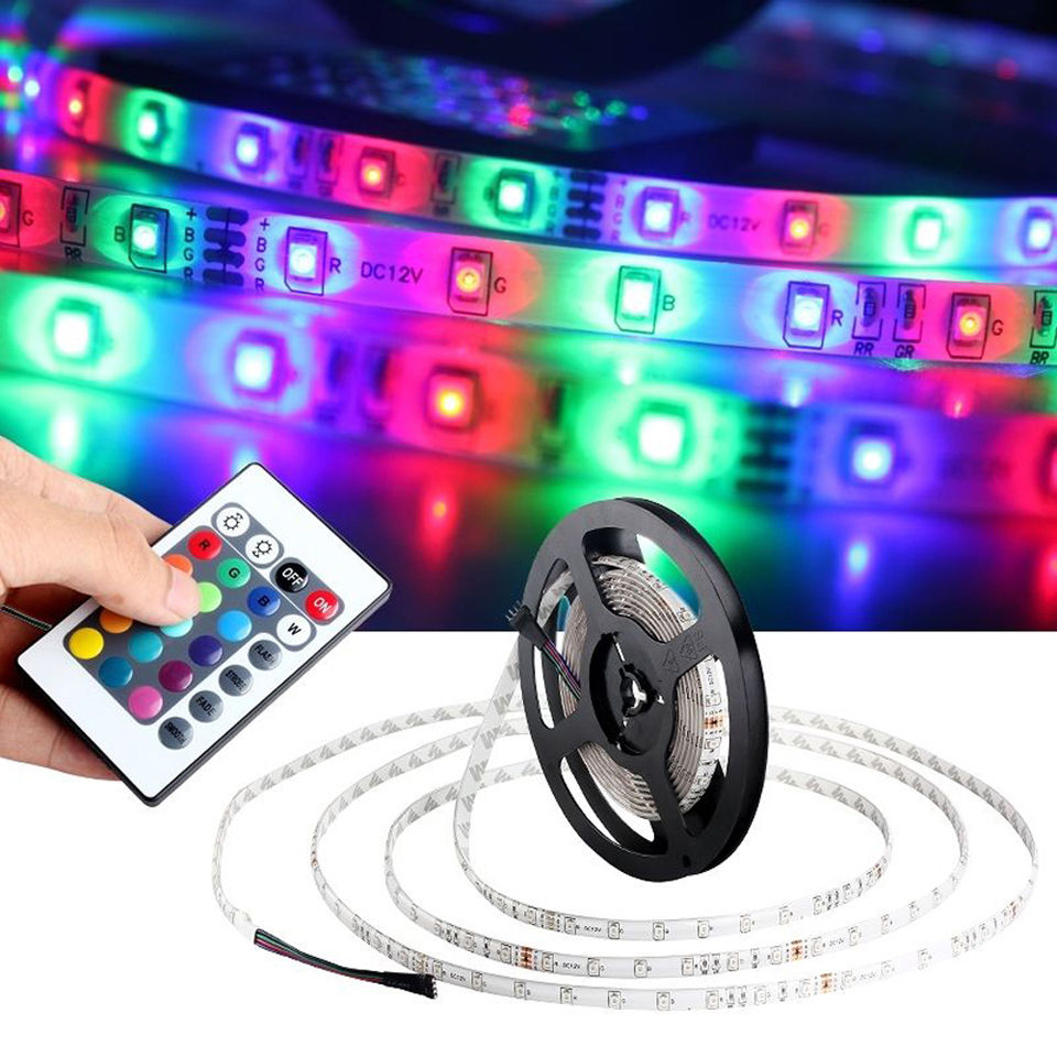 DIY 5M 300LED RGB 3528 SMD Car Interior Decor Light Strip Wireless Controller in Car Light Accessories from Automobiles Motorcycles