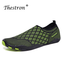 Thestron Water Shoes Breathable Stretch Fabric Aqua 35-46 Women Summer Outdoor Hiking Sneakers Men Sport