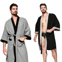 Summer Five Star Hotel Cotton Solid Mens Robes Nightgowns Bathrobe Suck Sweat bath towels Gown Male Lounge Robe Thin Sleepwear