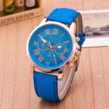 Cindiry Top Brand Lady Watch Women WristWatches Roman Numeral High Quality Leather Band Quartz Watches P0.25
