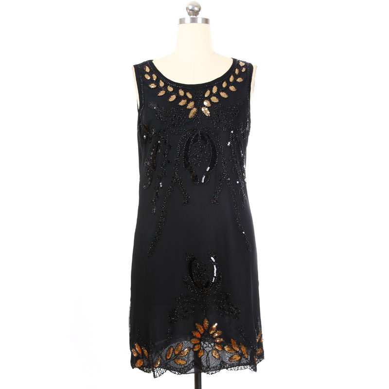 2019 SEPTDEER SEPTDEER Europe Oversized Fashion Sequins Embroidery Beaded  Great Gatsby Flapper Plus Size Retro Dresses 5XL KR3081 2 From Edmund02, ...