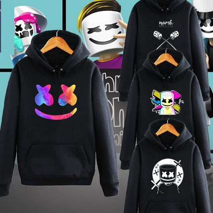 marshmello hoodie  face Hoodies men marshmello Hoodies Sweatshirt Sportswear Male Fleece Hooded marshmello coat Jacket