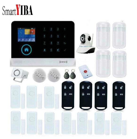 SmartYIBA Wireless Home Security WIFI GSM GPRS SMS font b Alarm b font system APP Remote