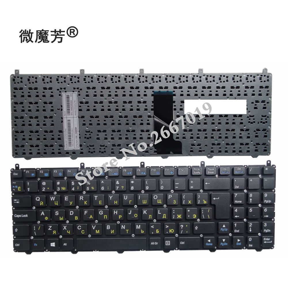 Russian RU Keyboard for DNS Clevo W650EH W650SRH W6500 MP-12N76SU-4301 6-80-W6500-281-1D Laptop keyboard origianl clevo 6 87 n350s 4d7 6 87 n350s 4d8 n350bat 6 n350bat 9 laptop battery