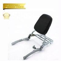 Sissy Bar Backrest + Luggage Rack Pad For Yamaha Virago XV 400 sadler bar backet