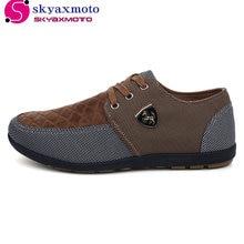 2017 г. мужская повседневная обувь; Мужская парусиновая обувь для мужчин обувь мужские модные туфли на плоской подошве кожаные модный бренд замши Zapatos de Hombre