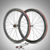 four sealed bearing ultralight carbon fiber 50MM road bike 700C wheelset racing with anti cursor rim V brake wheels