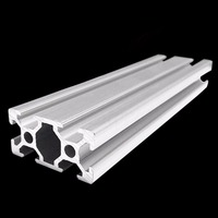 2040 Industrial T Slot Aluminum Profiles Extrusion Frame 20 40mm 500mm Length 3D Printer CNC Plasma