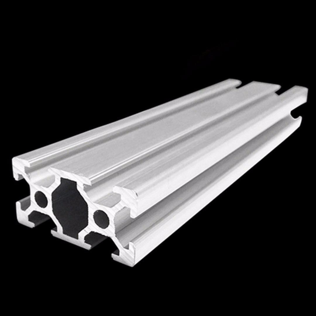 2040 Industrial T-Slot Aluminum Profiles Extrusion Frame 20*40mm 500mm Length 3D Printer CNC Plasma Lasers Mayitr 1 piece light grey aluminum extrusion profiles heatsink wall mounted distribution case 24x80x90mm
