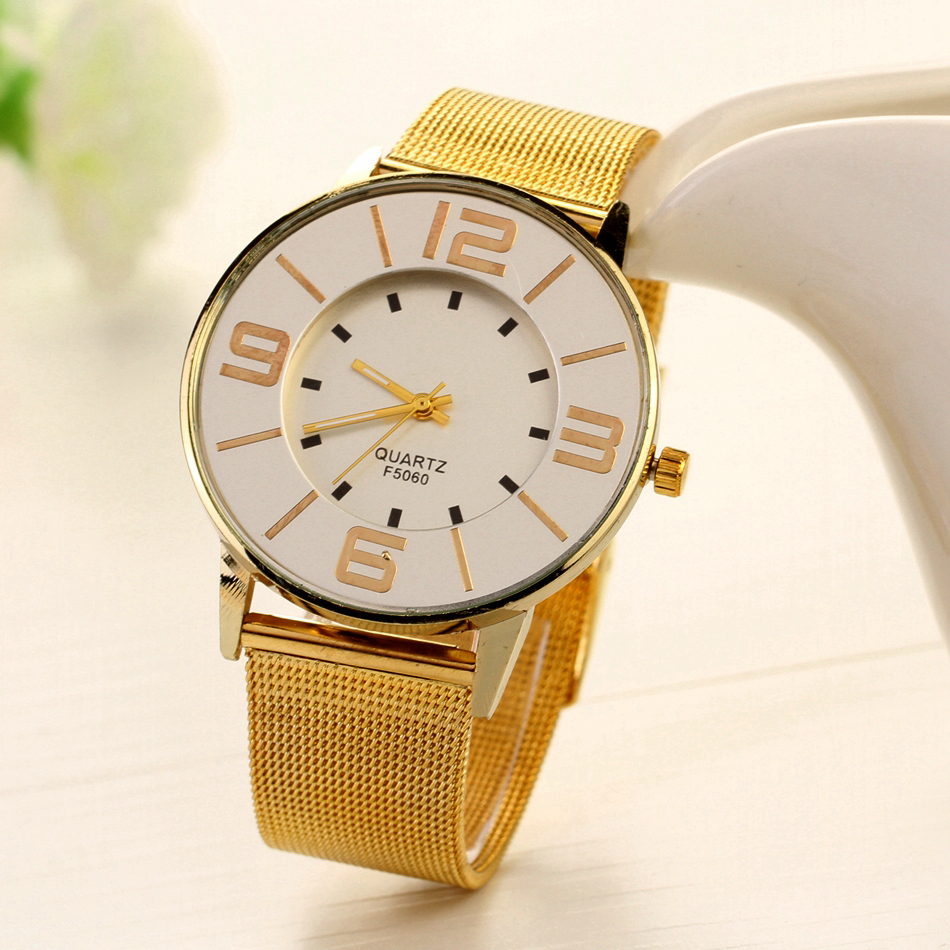 Women Brand Luxury Top Gold Bracelet Watch Fashion Big Dial Simple Business Quartz Wristwatch Casual Ladies Christmas Gift New gaiety casual women quartz watch women leather bracelet fashion watch ladies classic rose dial wristwatch colorful gift g189