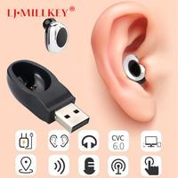 bluetooth 4.1 true wireless earbuds handsfree micro earpiece noise canceling headset stereo ear bluetooth earphone phone YZ184