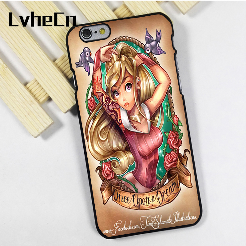LvheCn phone case cover fit for iPhone 4 4s 5 5s 5c SE 6 6s 7 8 plus X ipod touch 4 5 6 Punked Sleeping Beauty Princess