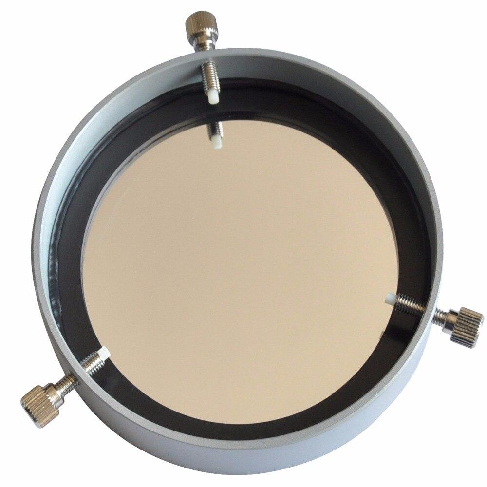 Filtre solaire réglable de soleil de Film de sécurité de 105-135 Mm, jumelles monoculaires de filtre de télescope astronomique de Film de planétarium de Baader