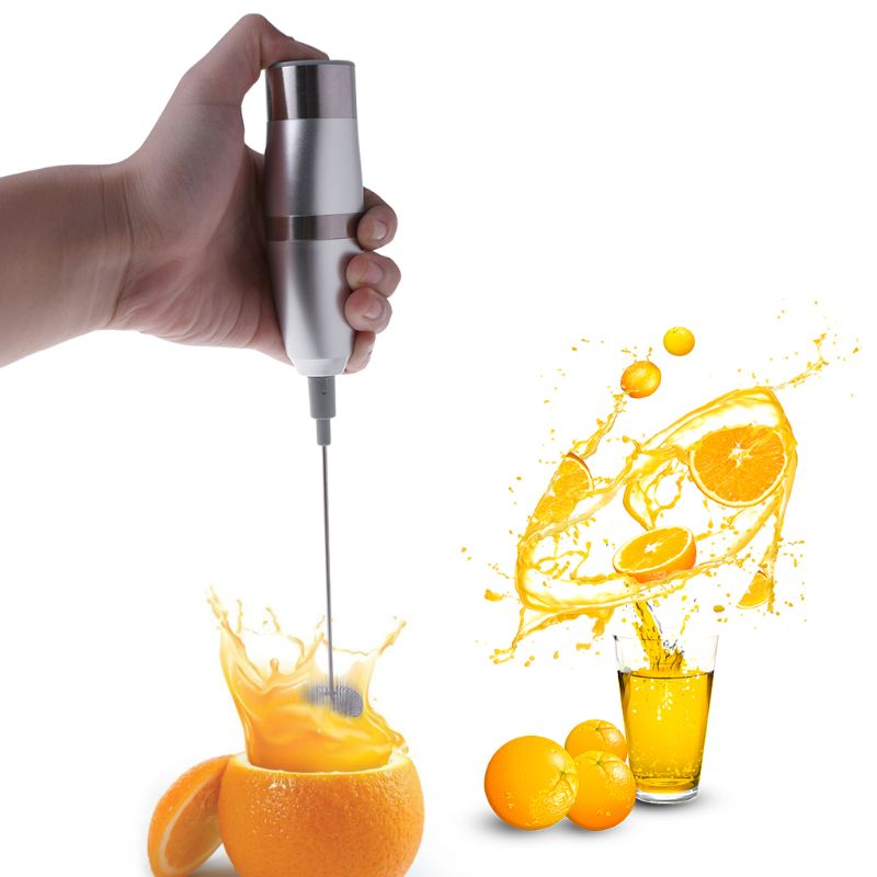 Electric Handheld Stainless Steel Milk Frother Kit Auto Stirrer Kitchen ToolsElectric Handheld Stainless Steel Milk Frother Kit Auto Stirrer Kitchen Tools