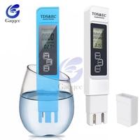Tds ec medidor de temperatura tester caneta 3 in1 função condutividade água qualidade medição ferramenta tds & ec tester 0-9990ppm 15%
