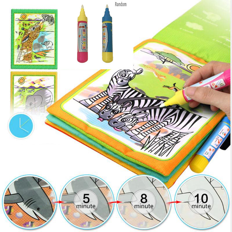 1pc Reusable Water Brush Pen Graffiti Toy Magic Water Drawing Doodle Pen Non Toxic Clear Water Painting Cloth Pen Toys For Child Strengthening Sinews And Bones