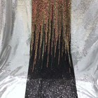 sequin lace fabric f...