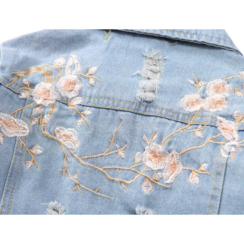 KISBINI 2018 Neue Herbstmode Vintage Style Peach Gestickte Blumen Jacke Mädchen Kleidung Mäntel Kinder Jacke 1 STÜCK