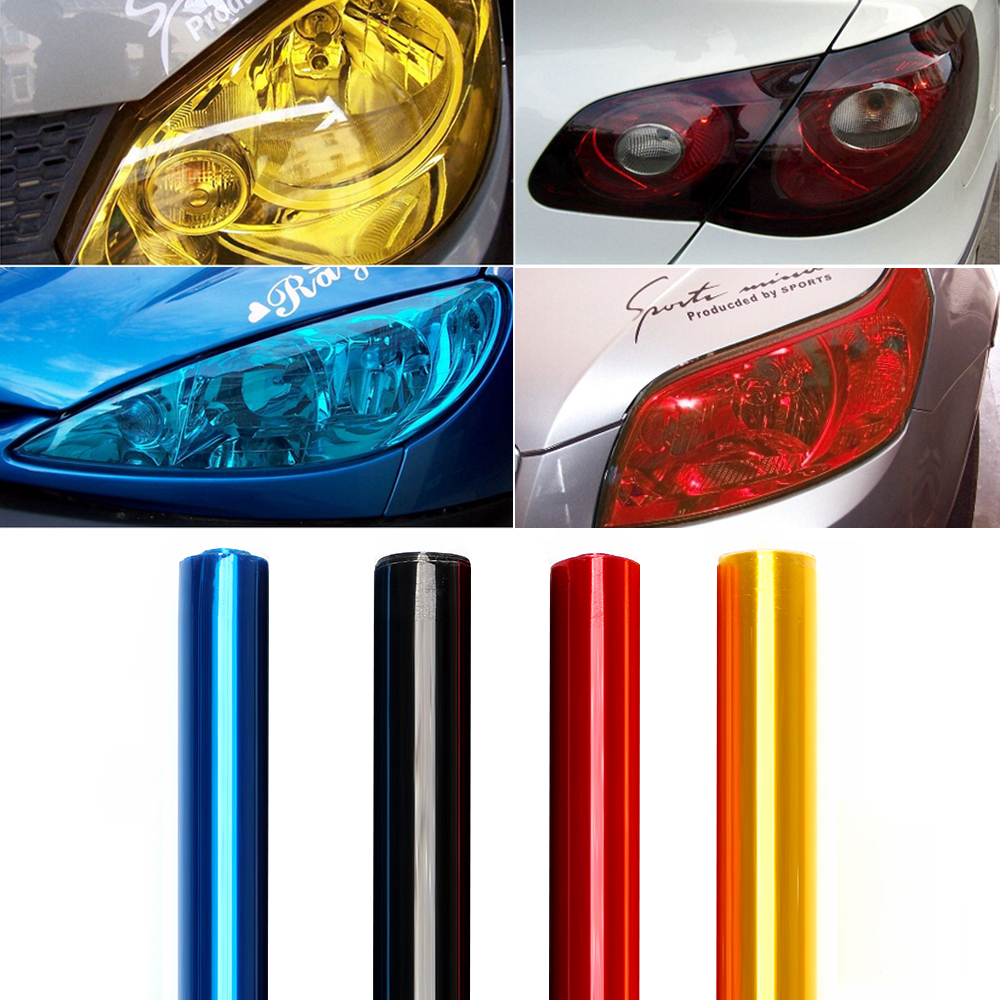 30cm*200cm Car Headlight Taillight Tint Vinyl Film Car-styling Protective Motorcycle Car Stickers and Decals Auto Light Film sportive style design car whole body refit die cut vinyl stickers and decals fashion car styling labels for ford fiesta
