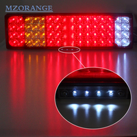 MZORANGE 2 PCS Car Caravan LED Trailer Tail Lights 12V 24V 52 LED Trailer Truck Van