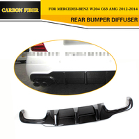 Car Styling Carbon fiber Rear Diffuser Lip for Mercedes Benz W204 C63 AMG C300 Sport Sedan 2012 2014