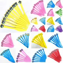 10pcs/6pcs Emoji/Princess Belle/Moana/Trolls Disposable Plastic Knives Kids Birthday Party/Baby Shower Partyware Decorationss(China)