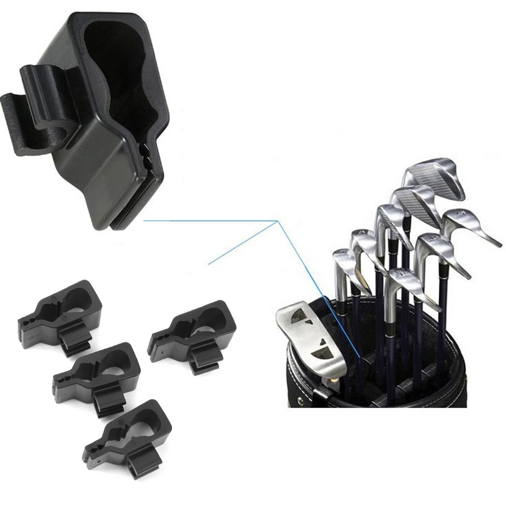 14Pcs Golf Club Bag Clip On Putter Clamp Holder Putting Organizer Black