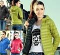 A nova oferta promocional especial do sexo feminino de algodão fino casaco acolchoado com mangas e jaqueta acolchoada feminino A5230