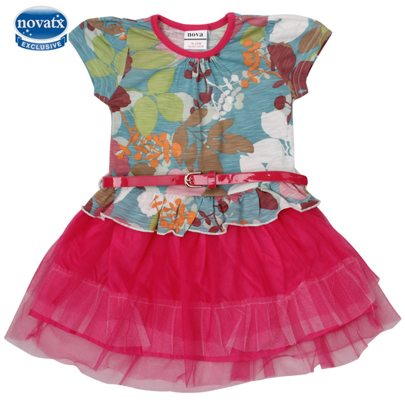 Nova kids clothing short sleeve summer dresses dora Baby clothing designers