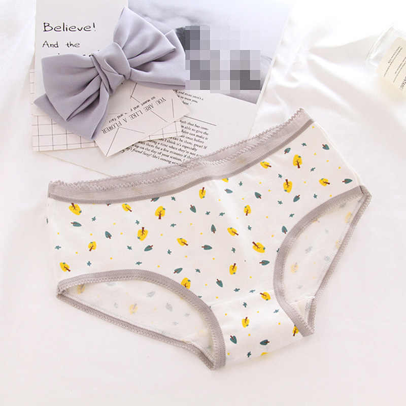 Venda macio confortável engraçado carta printe bonito meninas briefs algodão respirável feminino meninas roupa interior