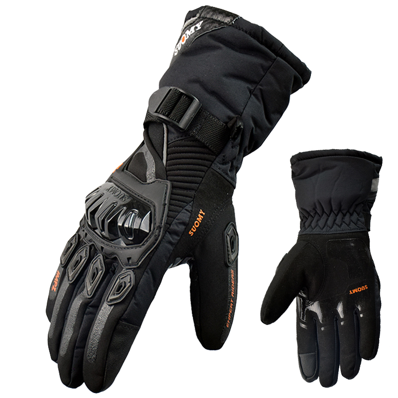 2017 New brand Suomy Touch Screen 100% waterproof motorcycle gloves guantes moto invierno motorbike gloves luvas keep warm