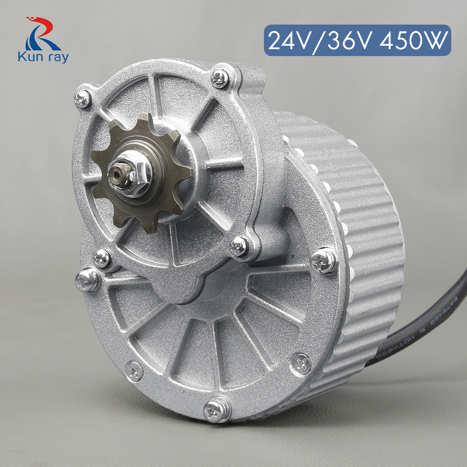 купить 450W 24V/36V MY1018 DC Gear Brushed Motor Electric Bicycle Motor Ebike Brushed DC Motor E SCOOTER Motor Electric Bicycle Parts по цене 6369.33 рублей