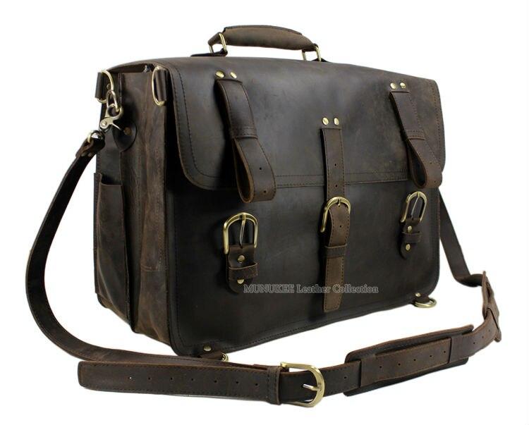 33ba2d93db Hot Vintage Crazy Horse Leather Men Messenger Bag Large tote bag Genuine  Leather Messenger Bag Carry on Men Shoulder bag big-in Crossbody Bags from  Luggage ...